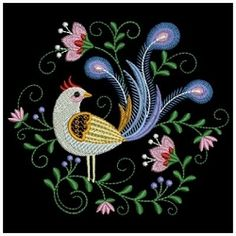 Decorative Birds 8 - 3 Sizes! | What's New | Machine Embroidery Designs | SWAKembroidery.com Ace Points Embroidery