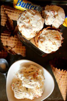 Butterfinger Ice Cream by Niki's Sweet Side
