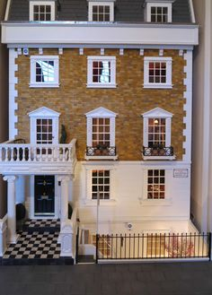 Kensington Townhouse   The Greenleaf Miniature Community. Miniature Dollhouse  FurnitureMiniature ...