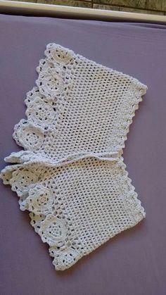 Short Em Crochê Linhas Em Algodão Sinhá Rosa - R$ 45,00