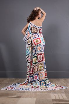 Granny square dresses for wedding