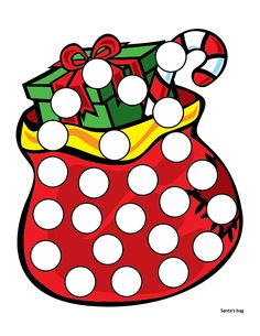 Christmas Do-a-Dot Printables - Gift of Curiosity Preschool Christmas Crafts, Christmas Math, Christmas Activities For Kids, Christmas Printables, Christmas Worksheets, Teaching Shapes, Lacing Cards, Do A Dot, Diy Advent Calendar
