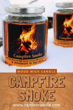 A campfire man candle! Glass Jars, Candle Jars, Smoke Smell, Wood Wick Candles, Roasting Marshmallows, Open Fires, Faceted Glass, Instagram Feed, Wicked