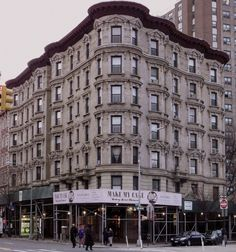 An apartment house in Harlem, Manhattan.