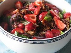 Strawberry & Candied Pecan Salad - this is so yummy, I like feta cheese on mine though..........delish!