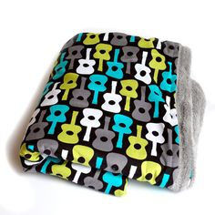 Groovy Guitar Lagoon Punk Rock ADULT Throw or crib by BabiesRawk, $55.00