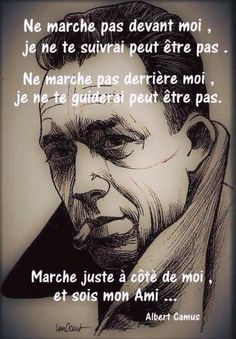 French Phrases, French Quotes, Albert Camus, Love Quotes, Inspirational Quotes, French Expressions, Attitude Of Gratitude, Positive Inspiration, Sweet Words