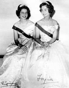 Princess Irene of Greece and Denmark with her older sister Princess Sophia (now Queen Sofia of Spain.)