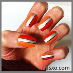 Hot Orange Nails for Summer  26 Amazing Nail Art Ideas