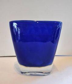 Vintage Indigo Glass Vase #LosAngeles #Mecox #interiordesign #home #decor #MecoxGardens