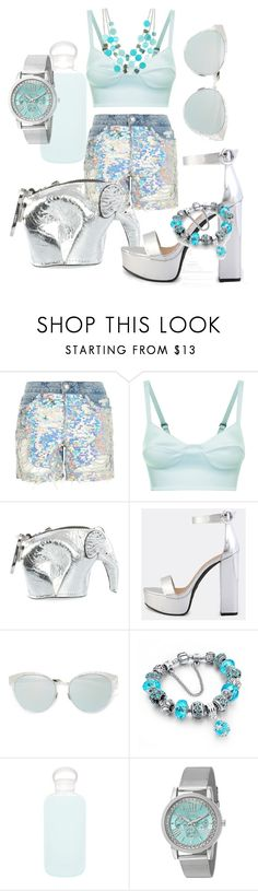 """Shorts"" by emmmy88 ❤ liked on Polyvore featuring Topshop, Loewe, Christian Dior, bkr, XOXO and Mixit"