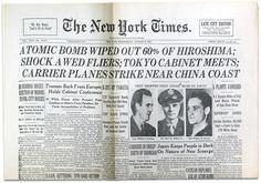 06.08.1945 The New York Times - Atombombe auf Hiroshima. Diese und über 2 Millionen andere original Zeitungen findet Ihr in unserem Archiv www.geschenkzeitung.de