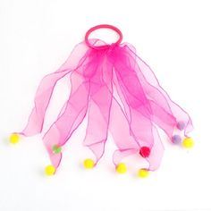 Girls Hot Pink Ribbon Decor Stretchy Ponytail Holder Hair Band Tie -- Visit the image link more details.(This is an Amazon affiliate link and I receive a commission for the sales)