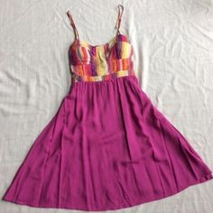 """✨NEW LISTING✨ Tribal Dress Reposting this fun tribal dress. Size Small. I bought for the summer time and wore once. Cute & comfy but I don't like how I look in this fusion/purple color. Just a style preference, dress is great/like new condition.   POSH SALES ONLY  Fast Shipper  5-Star Posher (see my love notes )  love offers using the """"offer"""" button please ✨✨ Self Esteem Dresses"""