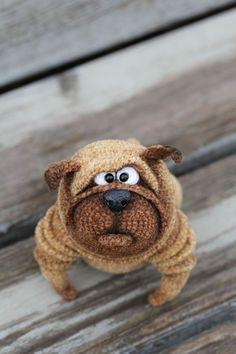 Knitted Pug   Вязаный мопс Венедикт — Купить, заказать, мопс, игрушка, вязаный, вязание, вязание крючком, ручная работа