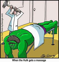 When the #Hulk gets a #massage.
