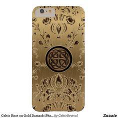#Celtic Knot on #Gold Damask #iPhone 6 Plus Case  #zazzle