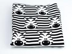 Kinderstoffe - baumwolle sweat jersy zebra - ein Designerstück von irenast bei DaWanda