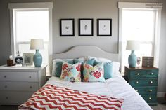 Beach bedroom refresh for the home complete with beautiful coastal decor! #BHGlivebetter @bhglivebetter