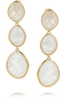 Monica Vinader Nugget 18-karat gold-plated moonstone earrings