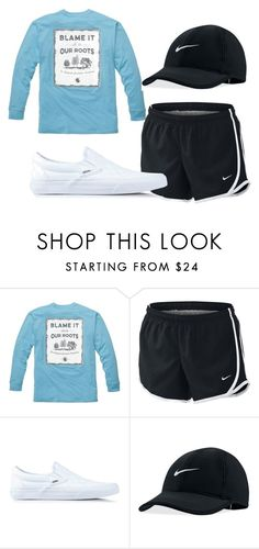Lazy day by clairathegreat on Polyvore featuring Southern Proper, Vans and NIKE