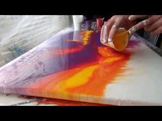Acrylic Fluid Pouring Large Scale.Experimenting With The Technique... - YouTube