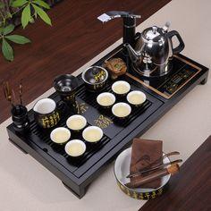 【yybyys家居旗舰店】yybyys 紫砂茶具套装 整套功夫茶具 电磁炉实木茶盘茶道特价包邮