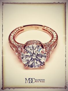 Dear future husband, this is perfect. **Vintage Rose Gold Engagement Ring. Stunning.**