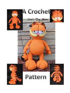 He encontrado este interesante anuncio de Etsy en https://www.etsy.com/es/listing/180707103/garfield-a-crochet-pattern-by-erin-scull