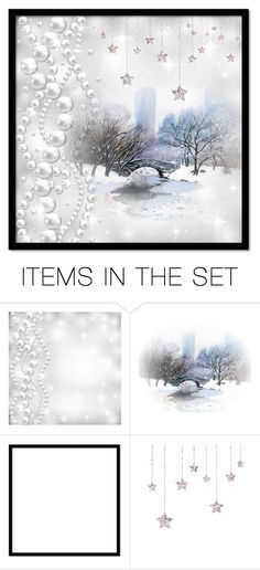 """""""Ice Pond"""" by beanpod ❤ liked on Polyvore featuring art, Winter, snow, ice and pond"""