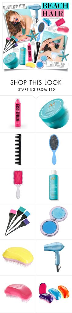 """No 408:Beach Hair (Top Set)"" by lovepastel ❤ liked on Polyvore featuring beauty, Moroccanoil, GHD, Tangle Teezer, BaByliss Pro, Tiffany & Co. and beachhair"