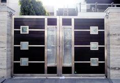 Beautiful Designer Steel Gate 012fl Mixed Media Steel Gate