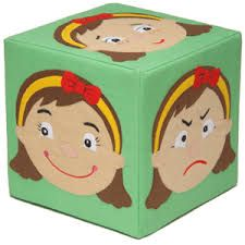 Miss Face Cube: Cubes with different expressions on each side. Great fun for activities and group games. A perfect way to discuss emotions and feelings. : W/D/H 20 x 20 x Social Emotional Activities, Emotions Activities, Therapy Activities, Learning Activities, Preschool Activities, Preschool Family, How To Express Feelings, Feelings And Emotions, Expressing Feelings