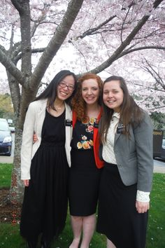 Sister Liao, Sister Everett, Sister Baldwin. Sister Missionaries for the Church of Jesus Christ of Latter Day Saints 3/17/2015 Washington, Tacoma Mission.