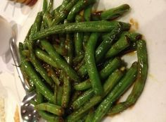 String Beans in Garlic Sauce.  Make it at home
