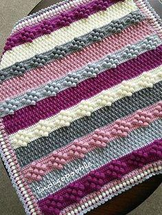 blankets Ravelry: Nine of Bobbles Deckenmuster von Pat Foster Choosing A Shower Enclosure Article Bo Manta Crochet, Crochet Baby, Free Crochet, Knit Crochet, Afghan Patterns, Crochet Blanket Patterns, Crochet Stitches, Crochet Bobble Blanket, Bobble Stitch