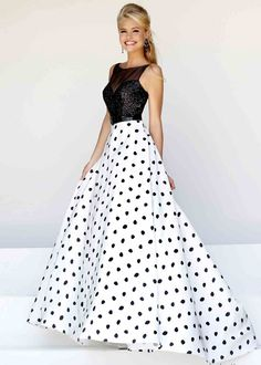 Black and white gon dress