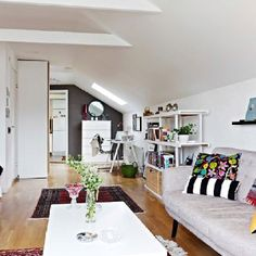 White furniture and open spaces