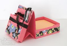 Jill's Card Creations: post it note and pen holder 3d Paper Crafts, Paper Gifts, Craft Tutorials, Craft Projects, Craft Ideas, Scrapbook Cards, Scrapbooking, Coral Accessories, Post It Note Holders