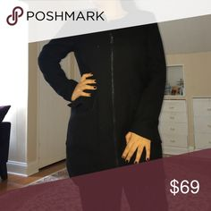 Zip up black coat New without tags Jackets & Coats