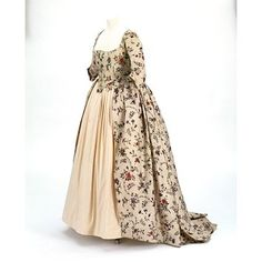 Dress. Block-printed and overpainted. Cotton. Dress made 1780. V