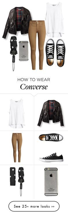 """Rainy day #1"" by maaria001 on Polyvore featuring H&M, Converse and Kate Spade"