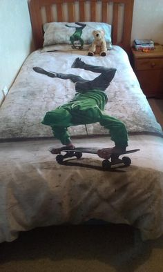 Skate on Teressa Hudson - Lorraine Lea Linen Independent Consultant sons bed Thanks for sharing Teressa