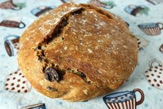 This easy recipe for whole wheat no knead olive bread with kalamata olives bakes in a Dutch oven. No Knead Bread, Yeast Bread, Bread Recipes, Baking Recipes, Recipe Folder, Olive Bread, Whole Wheat Bread, Kalamata Olives, Bread Rolls