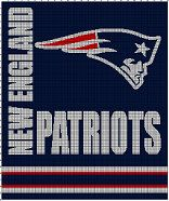 Free Crochet Pattern For New England Patriots Afghan : New England Patriots Crochet Afghan Pattern Graph My ...