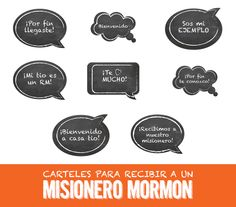 Welcome a Missionary   Speech Bubbles #missionary #lds #welcome #rwh #misionero #regreso #sud