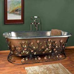 Gorgeous Bathtub Check us out on Fb- Unique Intuitions #uniqueintuitions #victorian #bathroom