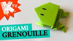 Grenouille en papier - Origami facile. how to make an origami frog.