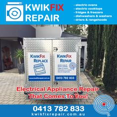 Electrical Appliance Repair That Comes To You Perth! Kwikfix Repairs services the Perth Metropolitan Area providing affordable electrical appliance repair for electric ovens, stoves, dishwashers, fridges, washers and driers. With over 37 years' experience in electrical appliance repair - call Larry today on 0413 782 833 or visit: http://kwikfixrepair.com.au/ #kwikfix #kwikfixrepair #electricalrepairs #appliancerepairs