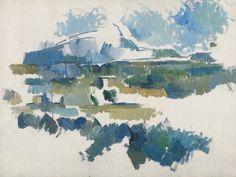 La Montagne Sainte Victoire vue des Lauves, Paul Cézanne, 1901-1906  http://wonderingmindstudio.com/2010/07/14/cezanne-and-the-art-of-nondual-nonfinito/